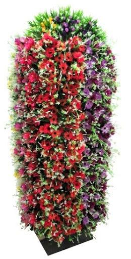 Bouquet artificiel rouge et violet