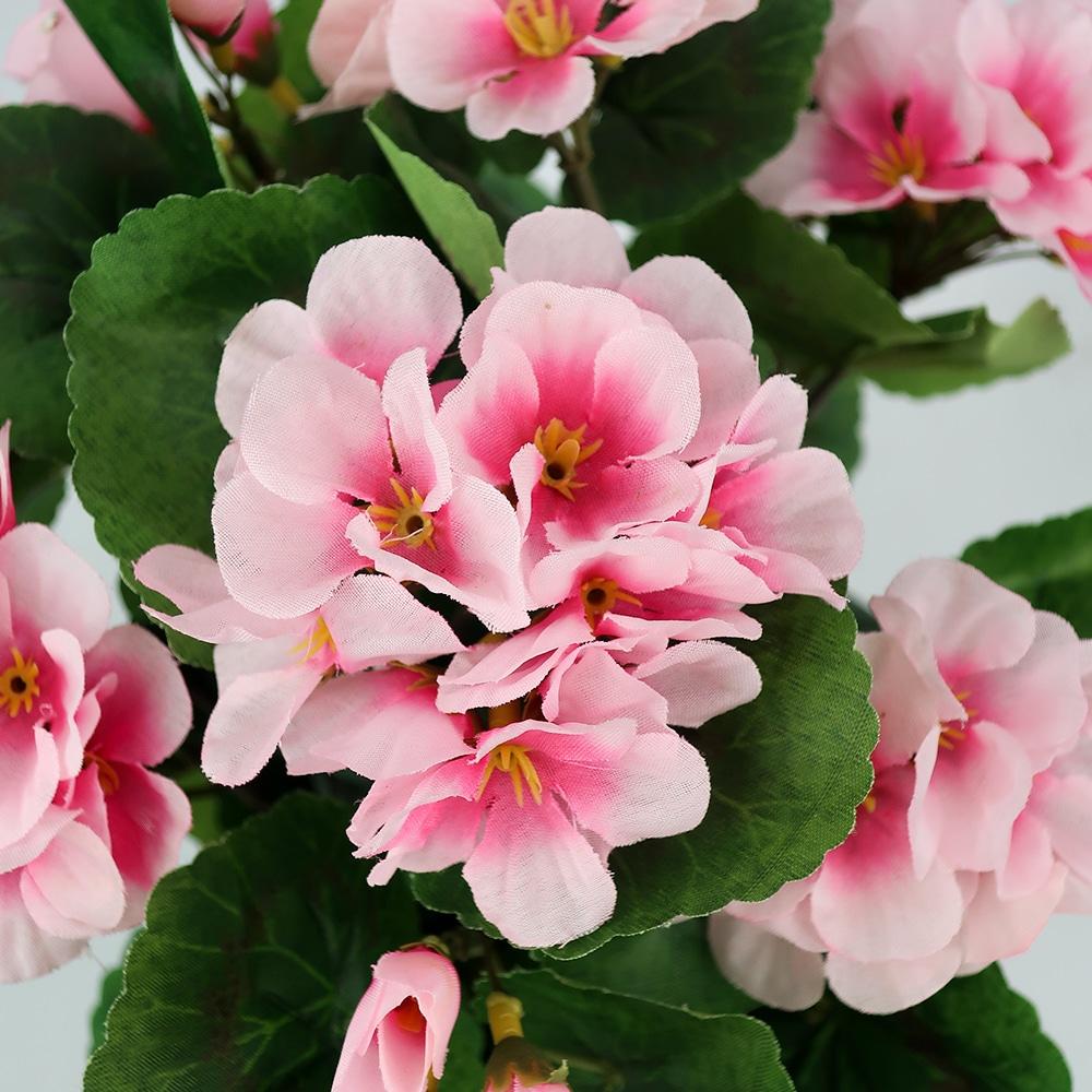 Plante artificielle rose