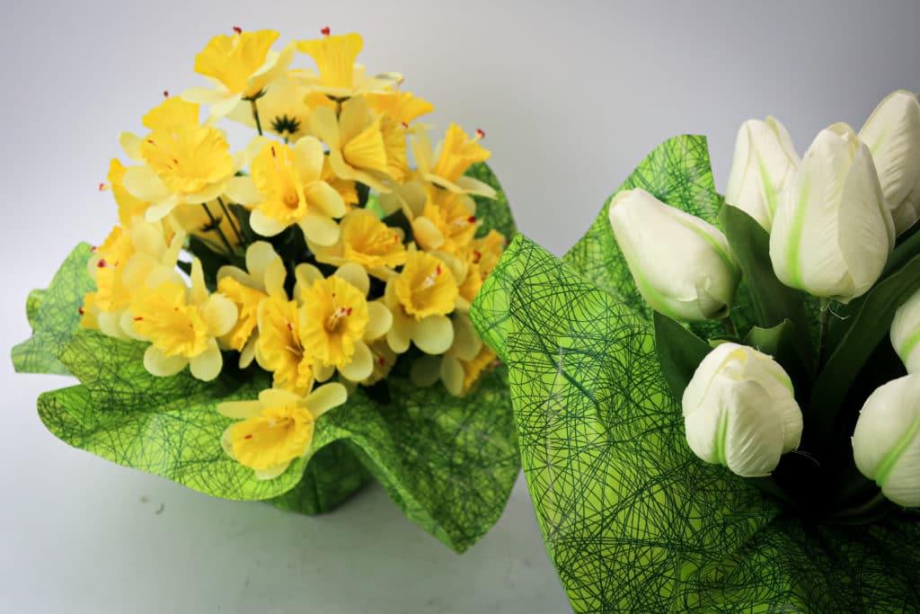 Plante artificielle jaune & blanc
